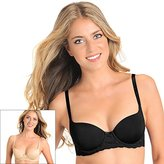 Lily of France Women's 2 Pack Smooth Lace Push Up Bra 2179541