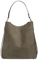 AllSaints Paradise Leather North South Tote Bag, Mink Grey