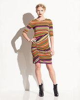 Betsey Johnson Striped Dress With Draping