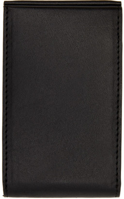 Aesther Ekme Black Magnetic Clasp Card Holder