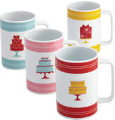 JCPenney CAKE BOSS Cake BossTM Set of 4 Porcelain Mugs - Mini Cakes