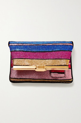 BIENEN-DAVIS Pm Striped Lurex Clutch - Pink