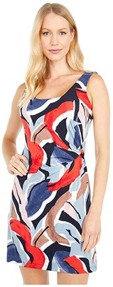 Nic+Zoe Petite Americana Dress (Red Multi) Women's Clothing