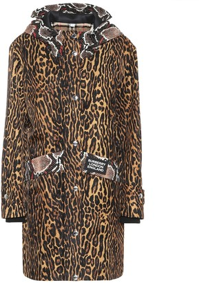 Burberry Animal-print nylon coat