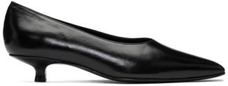 Dorateymur Black Cigarette Closed Kitten Heels