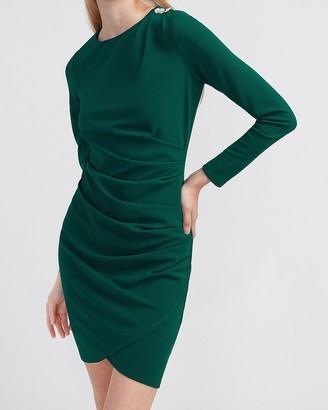 Express Embellished Button Shoulder Sheath Dress