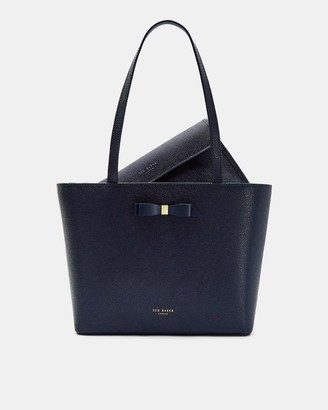 Ted Baker Bow Detail Leather Shopper Bag
