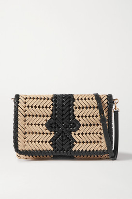 Anya Hindmarch Neeson Woven Leather-trimmed Rope Shoulder Bag - Neutral