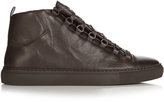 Balenciaga Arena high-top grained-leather trainers