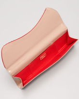 Christian Louboutin Pigalle Patent Spike Clutch Bag, Nude