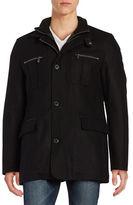 Cole Haan Solid Long Sleeve Wool-Blend Jacket