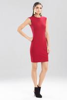 Josie Natori Double Knit Jersey Sleeveless Shift Dress