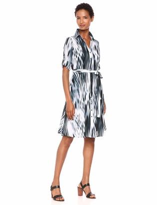 Nanette Lepore Women's Mini Dress W/Btn & Frt Belt