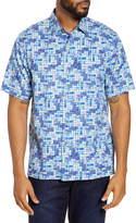 Tommy Bahama Short Sleeve Silk Blend Button-Up Shirt