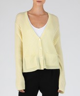 Atm Cashmere Deep V-Neck Cardigan - Yellow