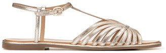 La Redoute Collections Leather Flat Multi-Strap Sandals