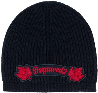 DSQUARED2 Logo Patch Wool Beanie