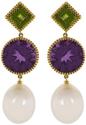 Verdura 18kt yellow gold Theodora drop earrings