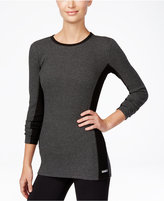 Calvin Klein Thermal Colorblocked Long-Sleeve Top