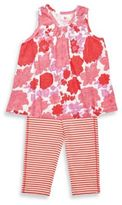 Pink Chicken Size 6-12M 2-Piece Grace Sleeveless Tunic and Legging Set in Red