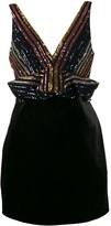Self-Portrait Sequin Embellished Velvet Dress