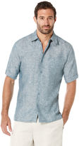 Cubavera Big & Tall 100% Linen Short Sleeve 1 Pocket Cross Dye Shirt