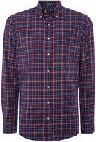 Gant Dark Base Twill Check Long Sleeve Shirt