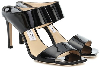 Jimmy Choo Hira 85 patent leather sandals