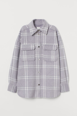 H&M Felted shirt jacket