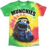Sesame Street Cookie Monster Munchies Tie Dye Men's T-Shirt
