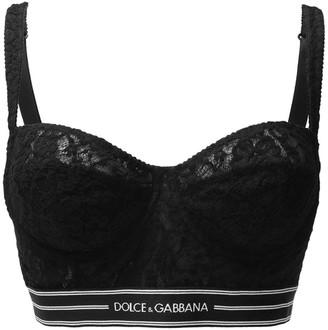 Dolce & Gabbana Logo Band Bra