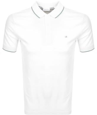 Calvin Klein Short Sleeved Polo T Shirt White