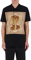 Givenchy Men's Cobra-Graphic Appliquéd Piqué Polo Shirt-BLACK