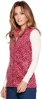 M&Co Spot print fleece gilet