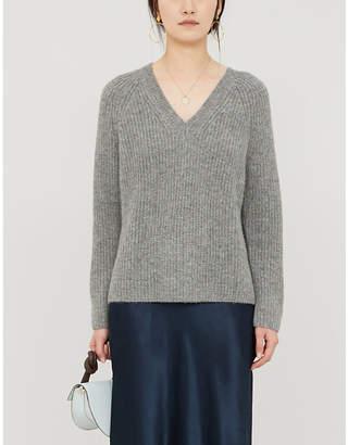 The White Company V-neck knitted jumper