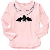 Gymboree Pink Bat Necklace Long-Sleeve Top - Girls