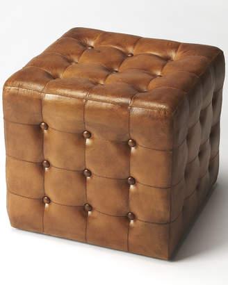 Leon Butler Brown Leather Ottoman