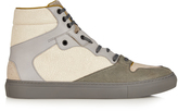Balenciaga High-top cracked-leather trainers