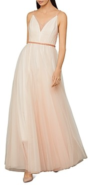 BCBGMAXAZRIA Beaded Tulle Gown