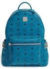 mcm small stark side stud backpack blue
