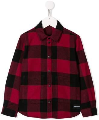 Calvin Klein Kids check print shirt