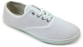 White Classic Lace-Up Sneaker