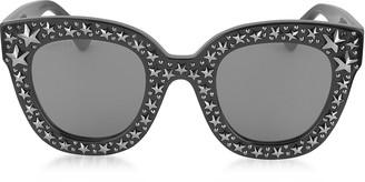 Gucci GG0116S Acetate Cat Eye Women's Sunglasses w/Stars feature star worthy retro