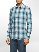 Calvin Klein Slim Fit Blurred Ombre Check Shirt