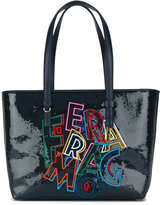 Salvatore Ferragamo slogan tote - women - Calf Leather/Polyester/PVC - One Size