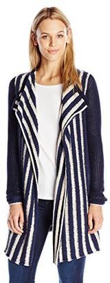 Lucky Brand Women's Striped Waterfall Cardigan
