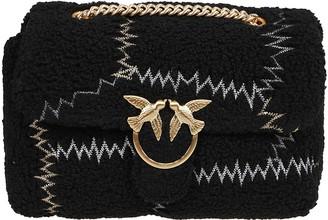 Pinko Black Faux Fur Bag