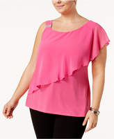 Belldini Plus Size One-Shoulder Top