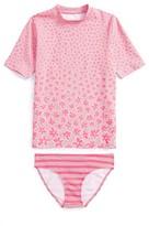 Toddler Girl's Stella Mccartney Summer Daisy Two-Piece Rashguard Swimsuit