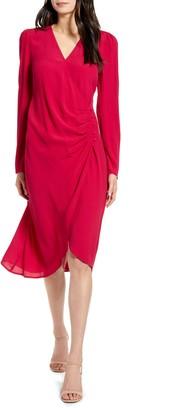 Chelsea28 Long Sleeve Wrap Dress